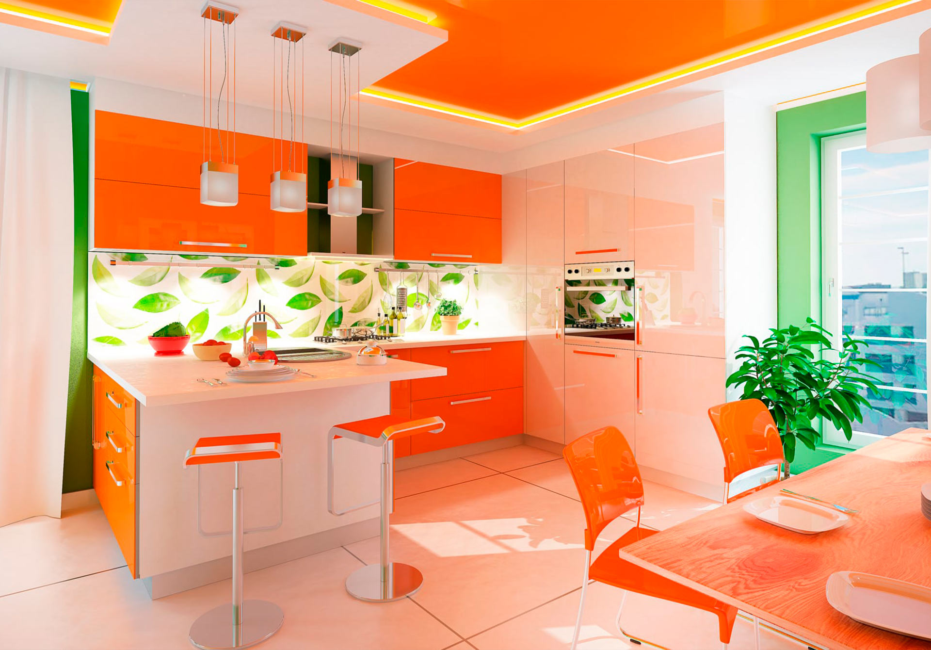 обои апельсины для кухни них, кстати, можно